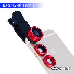 Bộ 3 Lens Camera Cho Điện Thoại Kèm Đế Kẹp
