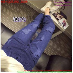 Quần jean nữ rách phong cách bụi bặm cá tính QJR190