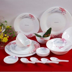 Bộ bát đĩa bàn ăn ngọc phú sĩ