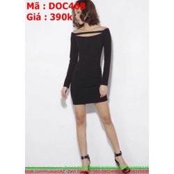Đầm body dự tiệc ngắn cổ thuyền phong cách xinh đẹp DOC468