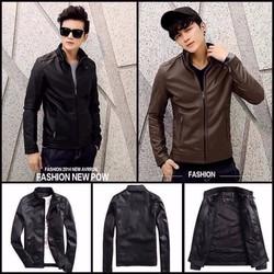 Áo khoác da nam lót lông phong cách Hàn Quốc