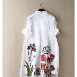 Đầm suông sơmi hoa kèm đầm lót _MỎ CHU SHOP