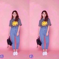 Quần baggy jeans trơn _MỎ CHU SHOP