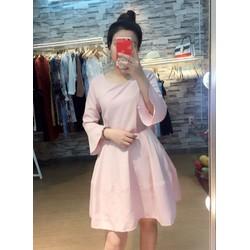 Đầm xoè tay lỡ cột nơ _MỎ CHU SHOP