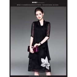 Hàng nhập cao cấp - Đầm Suông Chiếc Lá