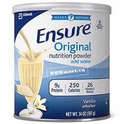 Sữa bột Ensure Original Nutrition Powder Add Water 397g Wowmart VN