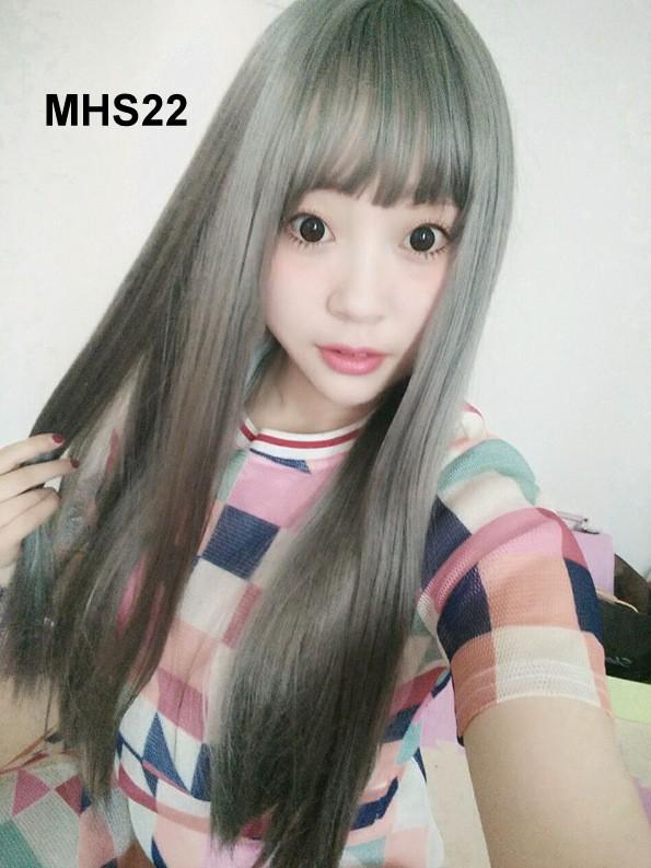 Bộ Tóc Bạch Kim Dài Mái Ngang MHS22 TH501 4