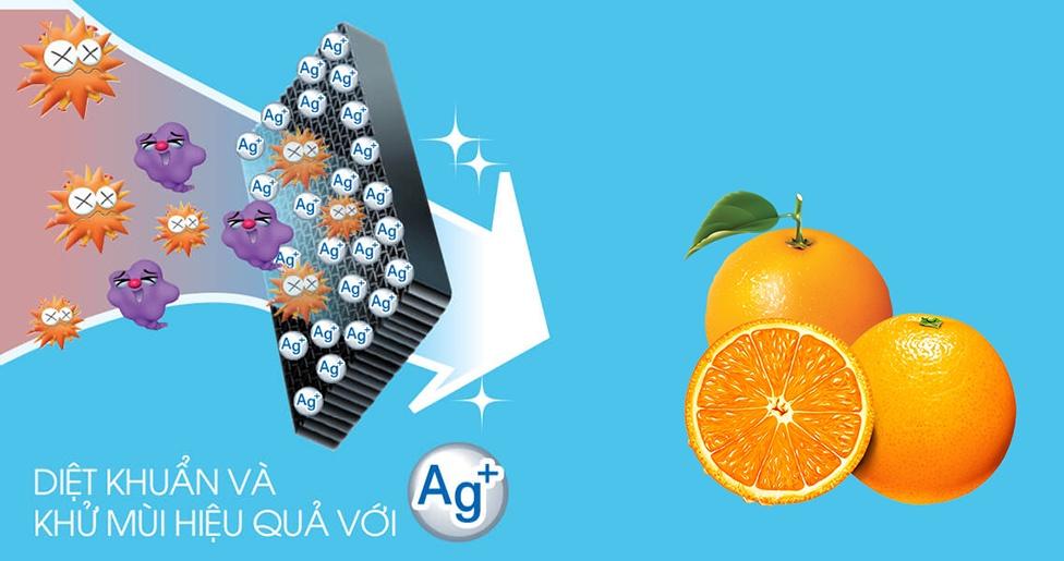 Bộ lọc khử mùi phân tử Nano Ag+