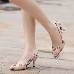 Giày họa tiết đôi môi xinh xắn N250