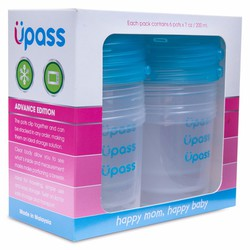 Set 6 hộp trữ sữa mẹ,đựng thức ăn,sữa bột cho bé UPASS Malaysia