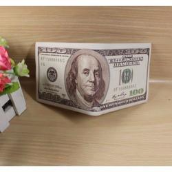 Bóp ví nam hình tiền 100USD - Hàng cao cấp có hộp