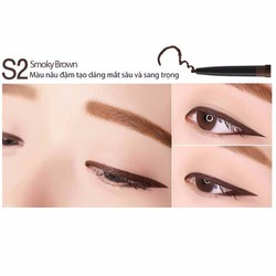 Bút chì kẻ mắt Eglips Super Slim Auto Long Eyeliner – #S2 Smoky Brown