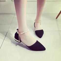 Sandal cổ ngọc trai