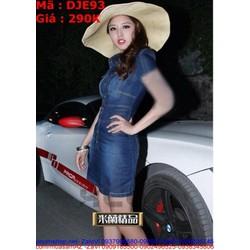 Đầm jean nữ công sở kiểu ôm dáng đẹp cá tính DJE93