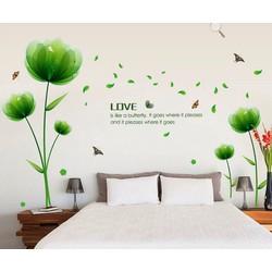 decal dán tường hoa