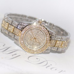 Đồng hồ nữ đính hạt pha lê cao cấp