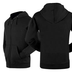Áo khoác trơn hoodie nỉ màu đen AKD001