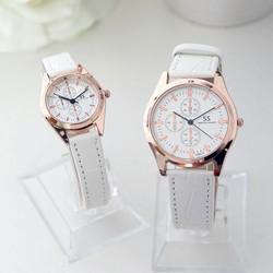 Đồng hồ đôi dây da SS thời trang SP861