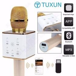 Micro Karaoke Bluetooth Q7 2 loa cực mạnh thêm cổng USB