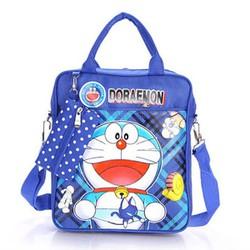 Túi xách đi học Doreamon dể thương cá tính kèm túi dụng cụ học tập