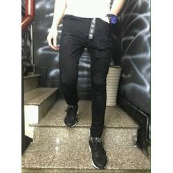 Quần jean jogger mẫu mới về có 3 màu đen trắng và xanh xám nhạt