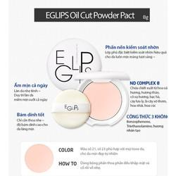 Phấn nén kềm dầu Eglips Oil Cut Powder Pact không màu