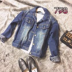 áo khoác jeans rách