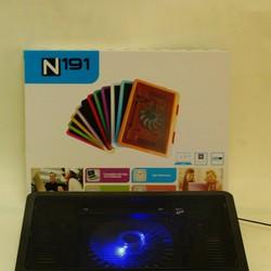Đế làm mát laptop - Đế tản nhiệt 1 fan lớn led N-191