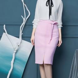 Chân váy hồng đỗ cao cấp - mã MV104
