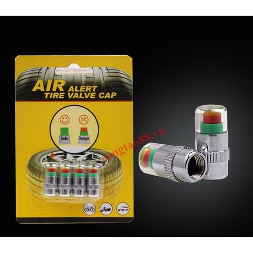 Bộ 4 nắp van đo áp suất lốp, cảnh cáo lốp xe.