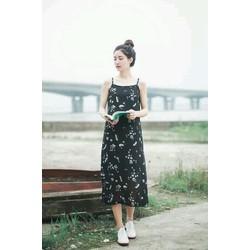 Đầm hoa nhí hai dây