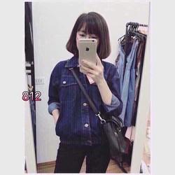 áo khoác jeans túi hộp