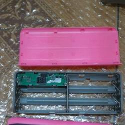 Box sạc dự phòng 5 cell hiển thị số- không pin
