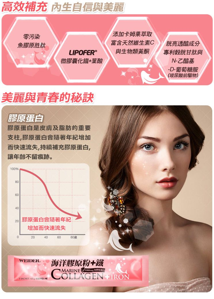 bột collagen weider marine + iron 4.5g x 60 gói 5