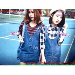 Váy yếm jean nữ phong cách trẻ trung QYB276