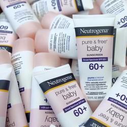 Kem chống nắng Neutrogena Pure Free Baby SPF 60+ từ Mỹ cho trẻ em