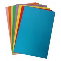 Bìa màu A4_1xấp màu xanh