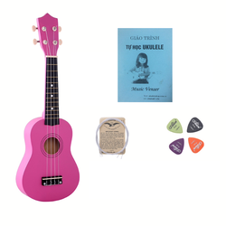 Đàn ukulele hồng đậm