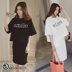 Set đầm thun Smile cao cấp - hàng nhập Quảng Châu
