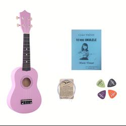 Đàn ukulele hồng nhạt