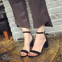 Sandal quai ngang gót vuông trẻ trung