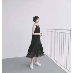 Váy suông 2 dây đen