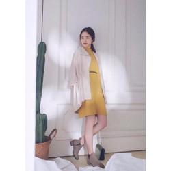 ĐẦM SUÔNG RÚT DÂY EO SIMPLE DRESS