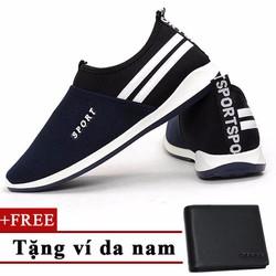 Giày Sneaker Nam Thời Trang+Tặng 1 ví da nam 6201XH TINTO