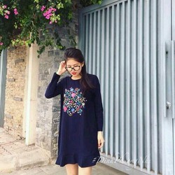 Đầm hoa văn bèo