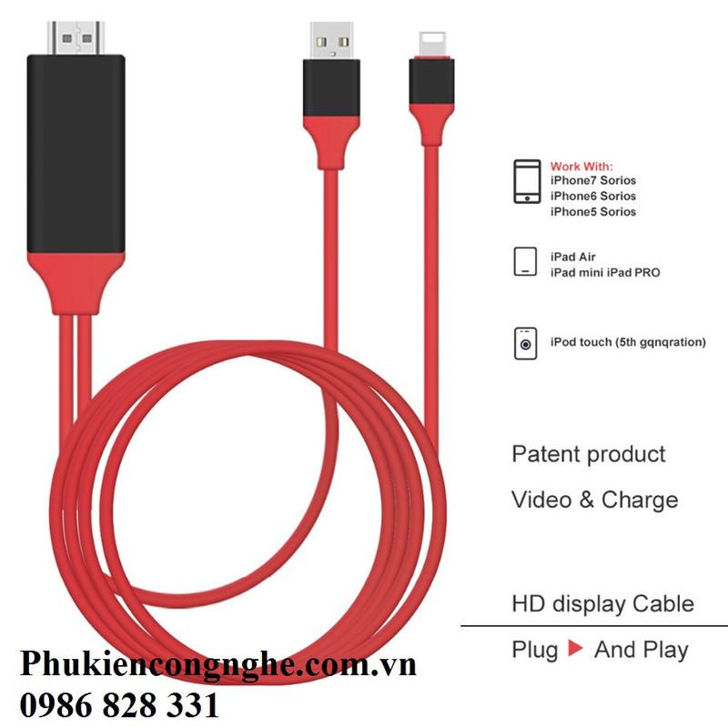 Cáp Lightning to HDMI cho iPhone 5, 5s, 6, 6plus, 7, iPad kết nối Tivi 1