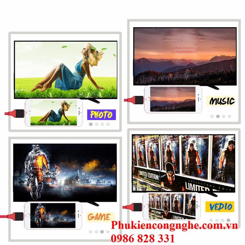 Cáp Lightning to HDMI cho iPhone 5, 5s, 6, 6plus, 7, iPad kết nối Tivi 2