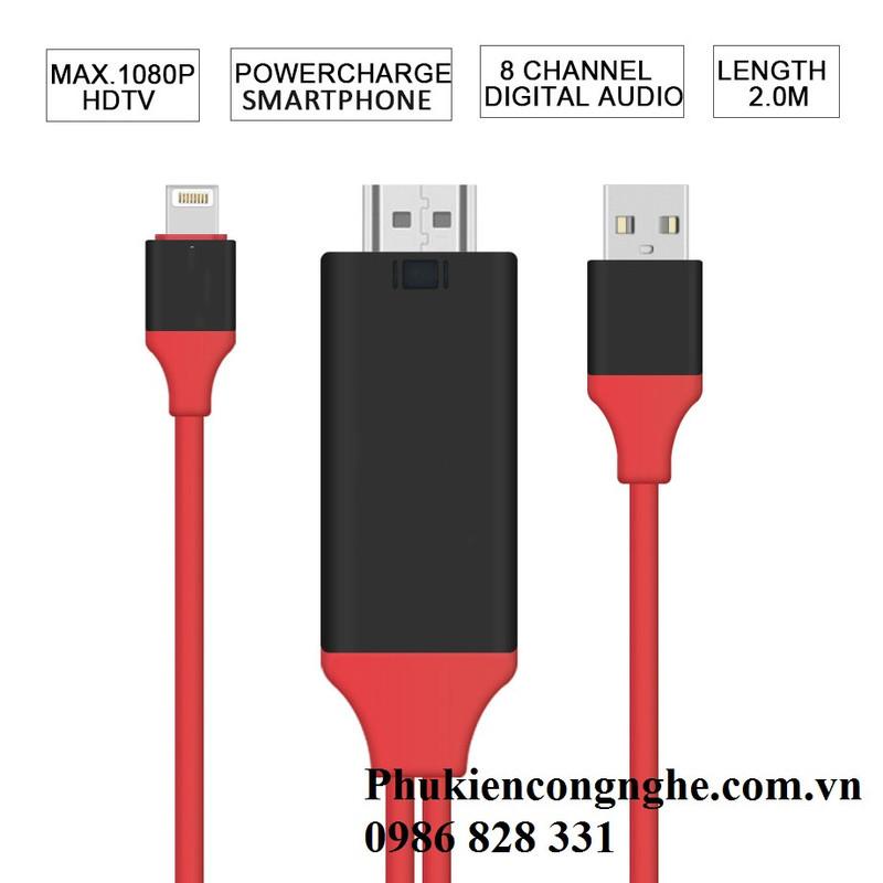 Cáp Lightning to HDMI cho iPhone 5, 5s, 6, 6plus, 7, iPad kết nối Tivi 3