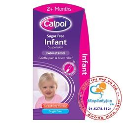 Thuốc hạ sốt giảm đau Calpol không đường - Cho bé từ 2 tháng tuổi