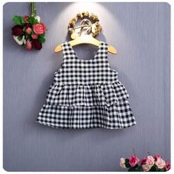 Đầm sọc caro em bé 1- 2 tuổi